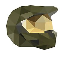 Low Poly - Master Chief Photographic Print