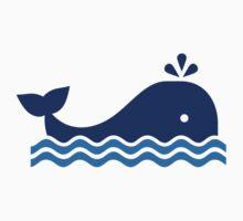 Blue comic whale by Designzz