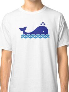 Blue comic whale Classic T-Shirt