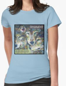 Not necessarily a lone wolf (Gray wolf) Womens Fitted T-Shirt