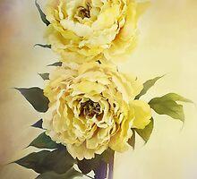 Yellow Peonies by Stephanie Frey