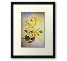 Yellow Peonies Framed Print