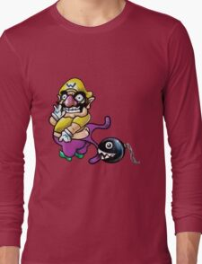 Wario Coppertone Ad Long Sleeve T-Shirt