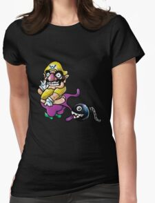 Wario Coppertone Ad Womens Fitted T-Shirt