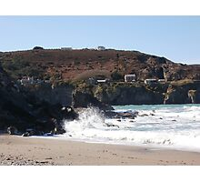Blue Hills Valley - Crashing Waves - Cornwall Photographic Print