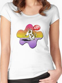 Arf! Cute Doggy Women's Fitted Scoop T-Shirt