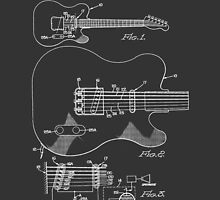 Fender Telecaster Tone Control Patent Drawing Design by Framerkat
