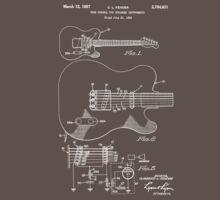 Fender Telecaster Tone Control Patent Drawing Design T-Shirt