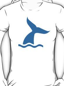 Blue whale fin T-Shirt