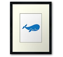 Cute blue whale Framed Print