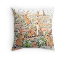 Rabbit Patch Throw Pillow