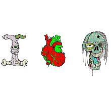 I Love Zombies ! Photographic Print