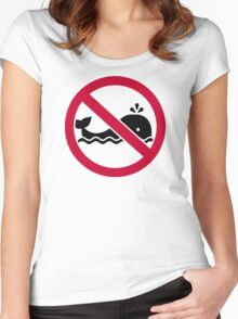 No whales Women's Fitted Scoop T-Shirt