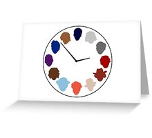 Doc Clock Greeting Card