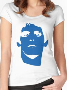 Lou Reed Blue Mask T Shirt Women's Fitted Scoop T-Shirt