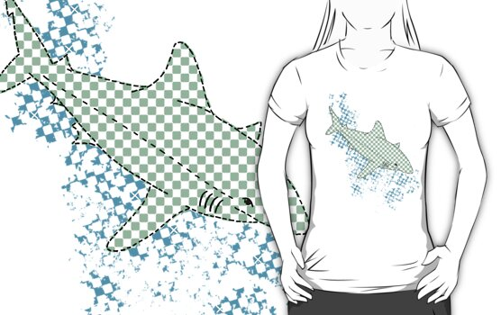 Gingham Shark by Miriam Shilling