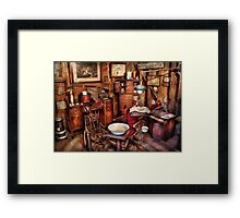 Dentist - The doctor will be with you soon  Framed Print