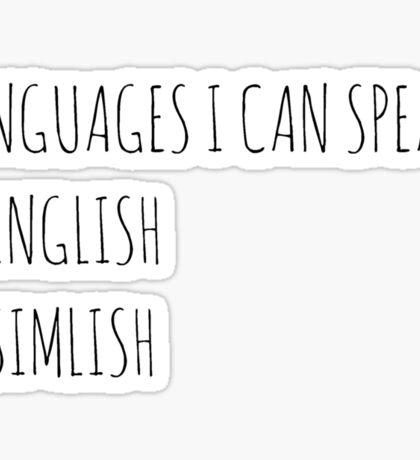 Languages I Can Speak Sticker