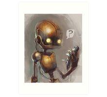 Curious robo Art Print