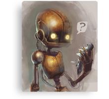 Curious robo Canvas Print