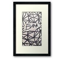 BLANK- OG Framed Print