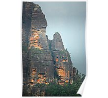 Pulpit Rock - Grose Valley - Blue Mountains NSW Poster