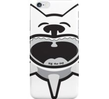 Black and White Big Mouth Biff iPhone Case/Skin