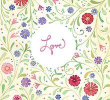 Bohemian Love Floral by laneykate