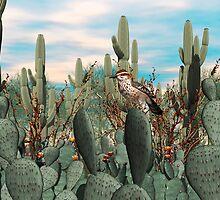 Cactus Wren by Walter Colvin
