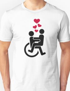 Wheelchair love hearts T-Shirt
