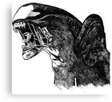 Alien Art Canvas Print