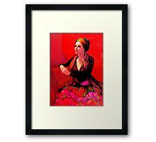 The Gypsy Skirt, oil painting on stretched canvas Framed Print