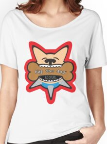 Biff the Dog Big Bone Inu Color Design Women's Relaxed Fit T-Shirt