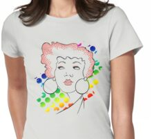 disco girl -red Womens Fitted T-Shirt