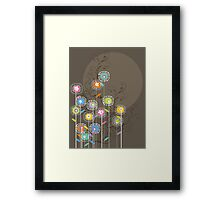 My Groovy Flower Garden Grows Framed Print
