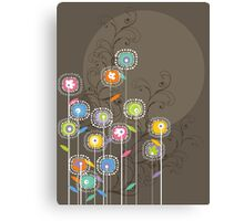 My Groovy Flower Garden Grows Canvas Print