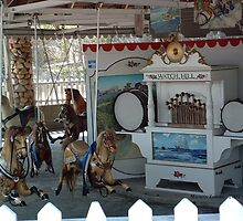 Watch Hill Carousel - Bay Street - Watch Hill by Maureen Zaharie