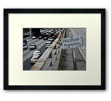 no pedestrians Framed Print