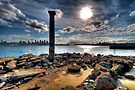 Sydney Harbour Sandstone Pillar by Jason Ruth