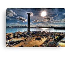 Sydney Harbour Sandstone Pillar Canvas Print