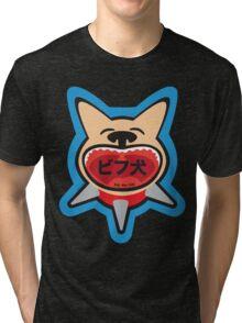 Biff the Dog Big Mouth Inu Color Design Tri-blend T-Shirt