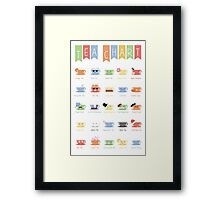 Tea Chart Framed Print