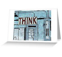 """Think"" Greeting Card"