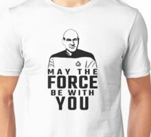 "Jean Luc Picard - ""May The Force Be With You"" Unisex T-Shirt"