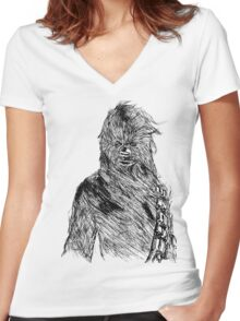 Chewy Art Women's Fitted V-Neck T-Shirt