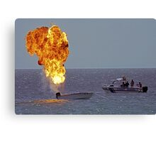 Explosives on board Canvas Print