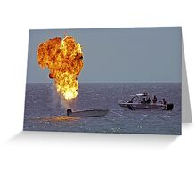 Explosives on board Greeting Card