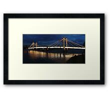 Albert Bridge London at Twilight Framed Print