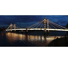 Albert Bridge London at Twilight Photographic Print