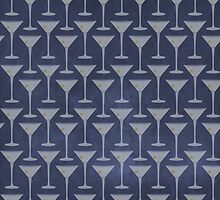 Blue Martinis Pattern by nealcampbell